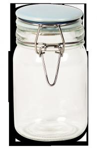 China wholesale round clear glass spice jar set with metal rack on sale
