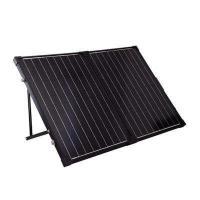 120 Watt Black Solar PV Panels / Foldable Solar Panel With Metal Handle