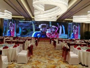 China Digital screen rental HD small pitch LED display P2 indoor 64 * 64 point module resolution on sale