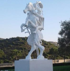 China White painting Abstract bronze sculptures, bronze horse with figure statues , China sculpture supplier on sale