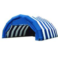 Blue And White Double Layer Outdoor Camping Inflatable Tents For Sale