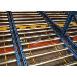 R - Marque la estantería profunda del estante del flujo de la plataforma de la aprobación 15 para las mercancías homogéneas de gran capacidad