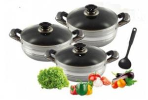 China 6 Piece Heat Resistant Aluminum Cookware Set For Home, Cafeteria on sale