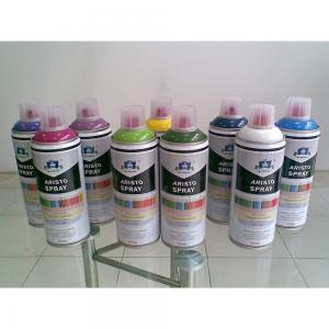 China Non toxic Eco-friendly Artist Aerosol Spray Paint for Wood / Plastic / Metal Surface on sale