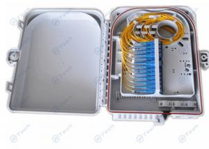 China 24 Ports Fiber Termination Box , 24Cores Fiber Optic FTTH Distribution Box Rainfall Resistant on sale