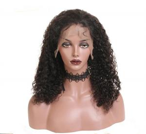 China Kinky Curly Long In Lace Front Human Brazilian Hair Wigs For Black Lady on sale