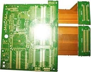 4 Layers Routing Chemical tin NTPH Flex Rigid PCB Board with