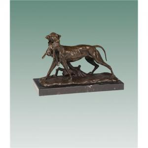 China Life Size Brass Dogs Sculpture For Hotel Decoration on sale