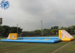 China Giant Outdoor Inflatable Soccer Field Football Pitch Inflatable Games on sale