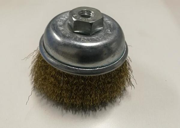75mm x M10 x 1.5 Stainless Steel Crimped Cup Wire Brush
