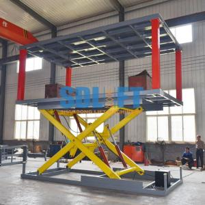 China Heavy - Duty Hydraulic Car Lift For Basement Car Elevator Parking Systems on sale