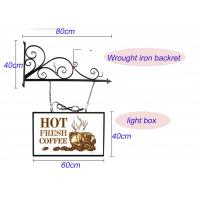 Hanging Sign Bracket Vacuum Forming Light Box Vintage Style With Double Sides Display