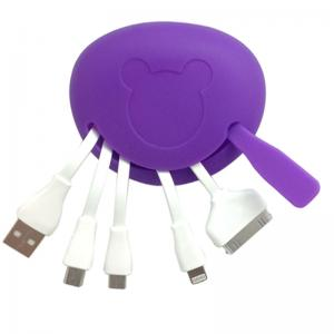 China Mickey Portable 4 in 1 USB Charger Cable for Smartphone on sale
