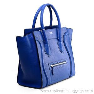 028acc755b ... Quality Celine Mini Luggage Tote Bag Pebbled Leather Electric Blue for  sale ...