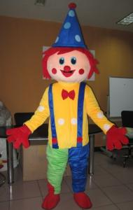 Quality Custom Cartoon Character Clown mascot costumes with Good ventilation for sale