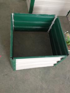 China Galvanised Steel Vegetable Raised Garden Bed Kits With Powder Coated Metal Frame on sale