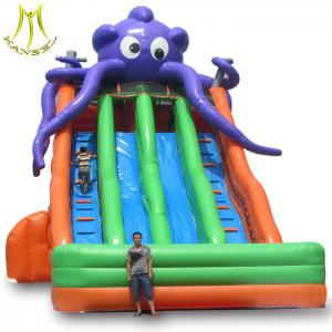 China Hansel guangzhou kids octopus inflatable playground slides for family center on sale