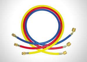 China 800PSI Working Pressure Hvac Charging Hoses With 1/4 SAE And 5/16 SAE Connection on sale