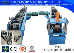 China Solar Energy Rack Roll Forming Machine With Non Stop Punching System 41 x 21 / 41 x 41 on sale