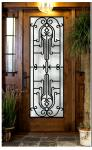 entrance door design  Wrought Iron Door Glass Agon Filled 22*64inch Size Shaped