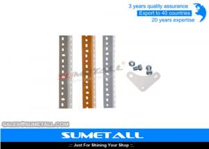 China Steel Slotted Angle Shelving Garage Storage Shelves Height Adjustable on sale