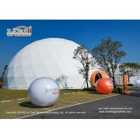 White Geodestic Tent  Event Outdoor Party Tents For With 20m Diamter and Projecter