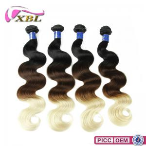 China Top 7A Virgin Peruvian Cheap Weave Hair Online Hot Selling Body Wave Colored Three Tone Hair Weave on sale