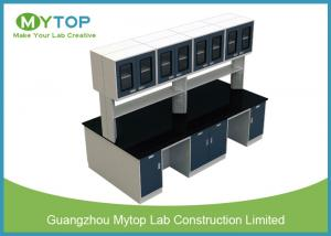 China Pharmacy Factory Lab Tables Work Benches With Reagent Rack Acid Resistant on sale