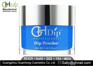 China 1 Oz Blue Nail Salon Dip Powder Manicure Customized Private Label on sale