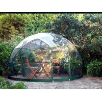 Customized Waterproof Windproof Movable Geodesic Dome Tent With Steel Frame