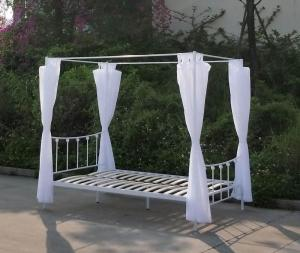 China Strong Wrought Iron Double Bed Frame Wall Thickness 0.6 Mm - 1.5 Mm on sale