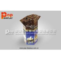 Oil Varnish Coffee Dump Bin Display Light Weight With Offset Printing