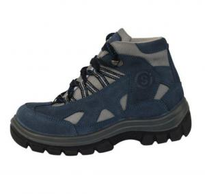 China middle cut safety work shoes 8004 nubuck leather upper, dual pu outsole steel toe&plate optional on sale