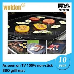 China Reusable PTFE Coated Fabric BBQ Grill Mats Dishwasher / portable bbq grill on sale