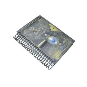 China Professional CMYK Spiral Binding Book / Spiral Bound Notebook Hardcover Book on sale