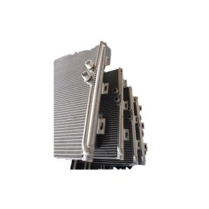 China Hydrophilic Water Chiller Microchannel  Heat Exchanger Fin Width 26mm on sale