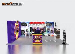 China Aluminum Frame Standard Exhibition Booth Size / Modular Trade Show Exhibition Stands on sale