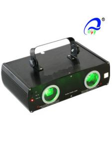 China Double Lens Club Laser Stage Light 30 Watt DMX Green Laser Light Two Heads on sale