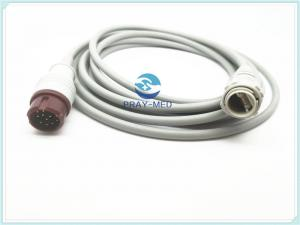China Mindray T5 Invasive Blood Pressure Cable , Philips IBP Cable 4mm Diameter on sale
