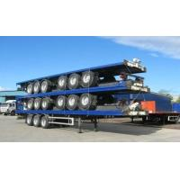 13m Extendable air suspension 60t Flat Bed Semi Trailer for transporting 20ft 40ft 45ft
