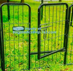 China Aluminum simple easily assembled Big single-door large steel dog animal cage, Puppy Cage 8 Panel Metal Fence Run Garden on sale