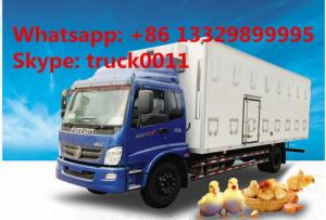 China O pintainho do bebê do tipo de CLW transportou o caminhão para a venda, pintainho dias de idade do tipo quente da venda LHD/RHD CLW/pato/caminhão transportado ganso on sale