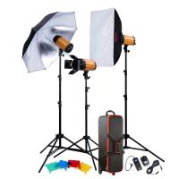 Smart Studio continuous Flash lighting kits 250SDi-D 250WS, 3 Flash Heads for photography