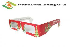 China Heart Shaped Diffraction Passive 3D Glasses Better Firework Effect Lense on sale