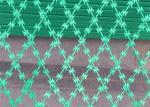 Powder Coating Razor Wire Mesh Fencing / Flat Type Welded Razor Wire Fence
