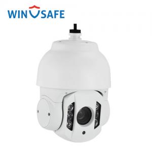 China Onvif Network 10X Outdoor IP PTZ Camera , Mini Dome PTZ Camera 360° Pan Range on sale