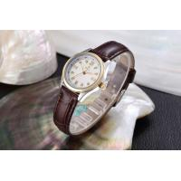 Digital quartz analog watch Crocodile pattern genuine leather band