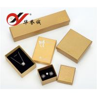 China Handmade Yellow Paper Jewelry Boxes Set For Bangle / Ring / Pendant Storage on sale