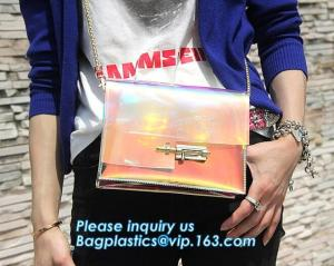 China Beach Clear PVC Shoulder Bag DIY Transparent Clutch Tote Bag, candy jelly bag transparent clear pvc handbag shoulder cro on sale