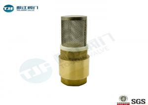 China PN10 Brass Non Return Check Valve BSP Thread Ends Type With Stainless Strainer on sale